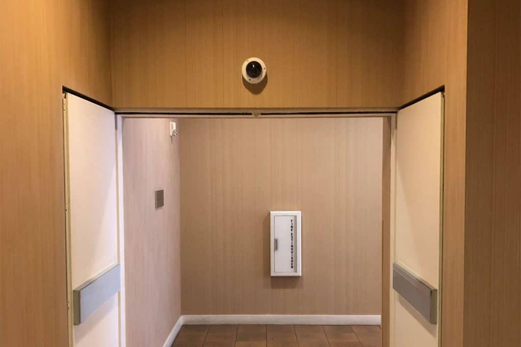 security camera over door