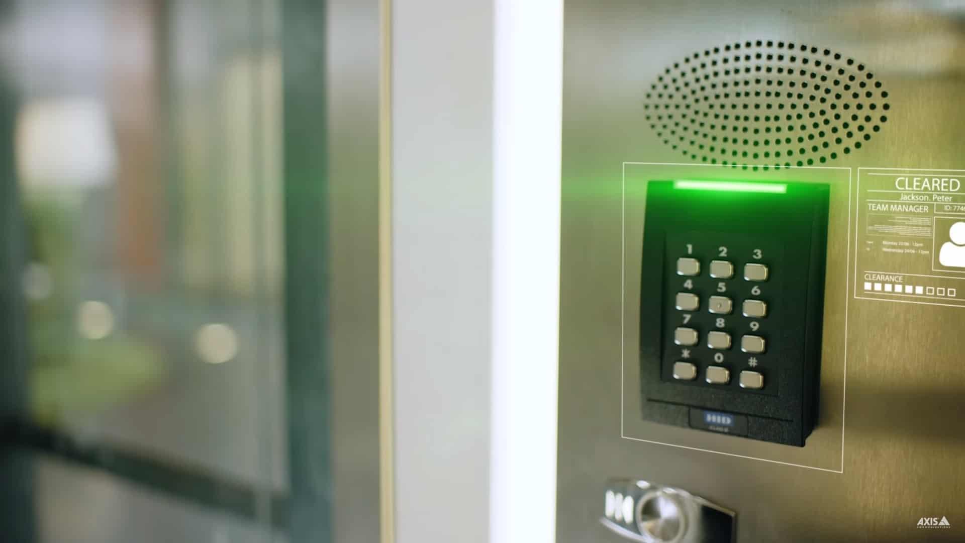 HID Keypad Door Access Control Installation