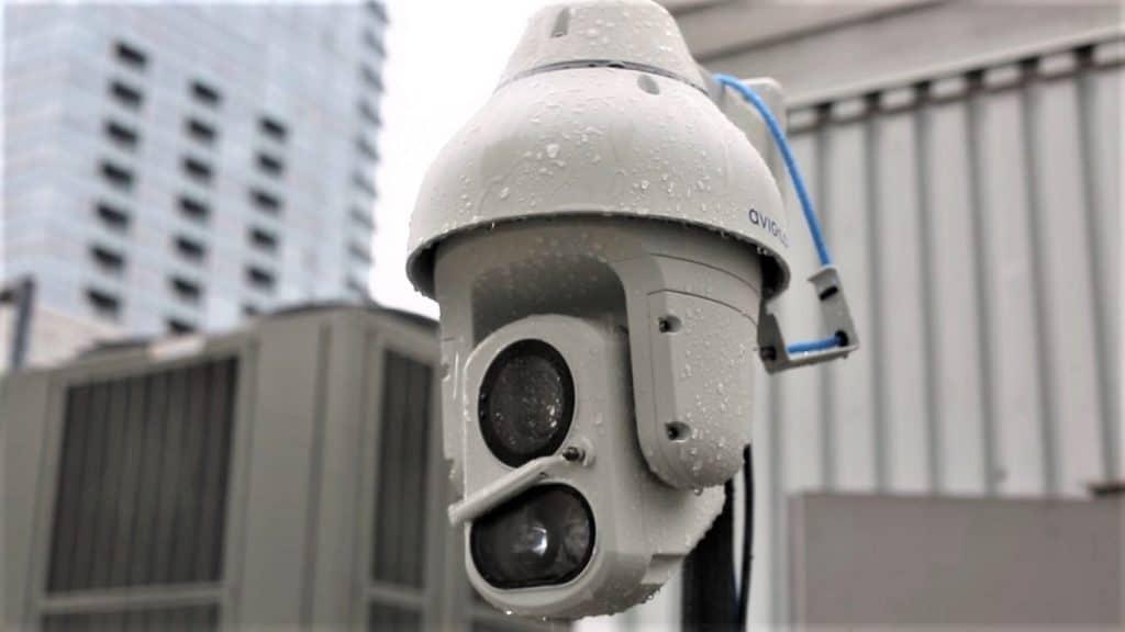 avigilon parking lot camera