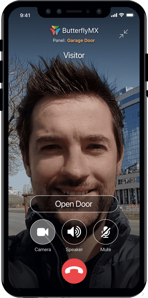 video intercom system connected to phone